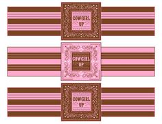 Free cowgirl party water bottle labels #cowgirl #birthday