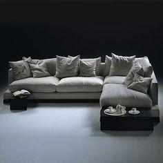 Flexform Long Island Sectional Sofa - Style # 1V, Leather Sectional Sofa & Contemporary Leather Sofa | SwitchModern LOOKS COMFY
