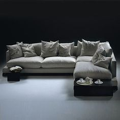 Flexform Long Island Sectional Sofa - Style # 1V, Leather Sectional Sofa & Contemporary Leather Sofa | SwitchModern