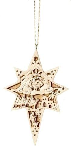 Carved Nativity Star