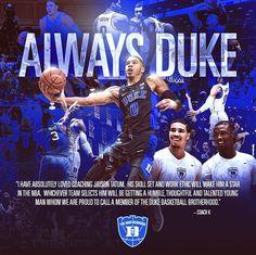 Tatum declaring for the NBA Draft 2017 Duke University Basketball, Basketball Coach, College Basketball, Nba Draft, Draft 2017, Coach K, College Hoops, Jayson Tatum, Duke Blue Devils