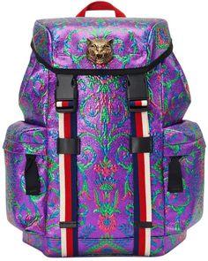 af474dedaee4 Gucci Multicolor Brocade Techpack Fashion Handbags
