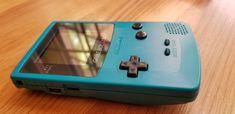 Original 1998 Nintendo Gameboy Color #gameboycolor #tealgameboy Game Boy, Nintendo Games, Nintendo Consoles, Retro Game Systems, Liquid Crystal Display, Two Player Games, Original Nintendo, Battery Lights, Game & Watch