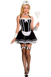 Cheap Black New Performing French Maid Costume