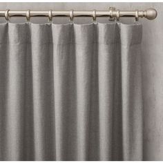 Heathered Wool Drapery - Rod-Pocket (1 790 SEK) ❤ liked on Polyvore featuring home, home decor, window treatments, curtains, restoration hardware drapery, rod pocket panels, wool curtains, restoration hardware window treatments and woven curtains