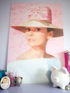 """I love Audrey Hepburn! Rather than having the poster framed, I got it mounted on poster board and then leaned it against my wall. This simple and inexpensive method is a great way to display your favorite poster."""