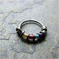 Colorful nose ring