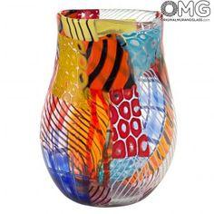 Large vase with murrine - Murano Glass