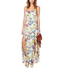 Vrouwen Sweet Kleine Broken Flower Pattern En Lange Tube Dress - EUR € 24.99