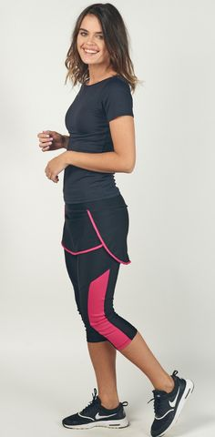 2ed9a02ea8bbb Have the freedom to work out anytime, anywhere in this modest sport skirt  with attached leggings!