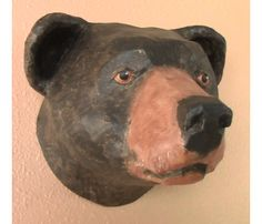 Black Bear Made with Paper Mache