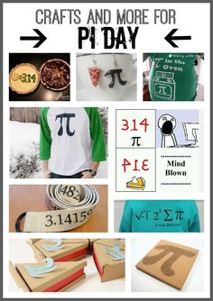 Pi Day - coming up! - Sugar Bee Crafts - - fun crafts and projects for geeks that love it! Teaching Time, Teaching Math, Teaching Ideas, Creative Teaching, Math Teacher, Math Classroom, Classroom Ideas, Fun Math, Math Activities