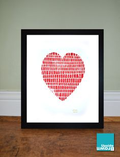 Hey, I found this really awesome Etsy listing at https://www.etsy.com/listing/230392826/red-heart-framed-lino-print-limited