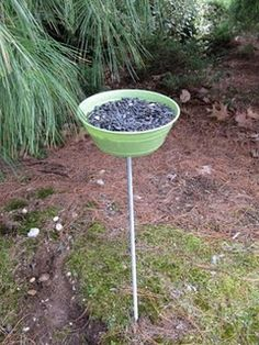 Super easy bird feeder from SewManyCrafts.
