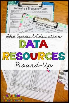 This is a full roundup of all the data resources available on the Autism Classroom Resources blog.  I've gathered all the posts on instructional and behavior data...the free resources...and information on collecting and analyzing your data.