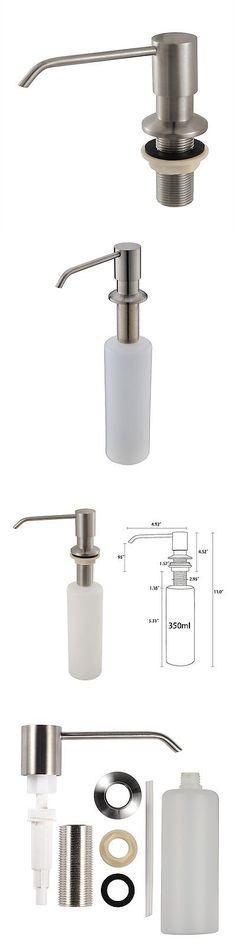 soap stainless steel brushed nickel pump liquid lotion kitchen sink soap - Kitchen Sink Soap Dispenser