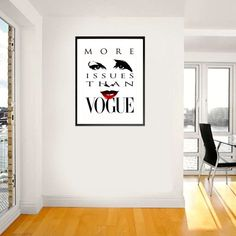 More Issues Than Vogue Vogue Printable Art by Stop4Design on Etsy
