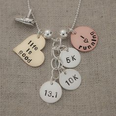 Hand Stamped Personalized Mixed Metals by TracyTayanDesigns, $59.95//but not for running, haha