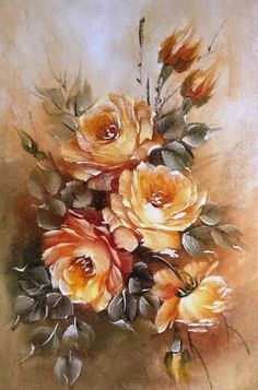 Painting g videos China Painting, Acrylic Painting Canvas, Fabric Painting, Canvas Art, Watercolor Flowers, Watercolor Art, Calendar Pictures, Illustration Blume, Arte Floral