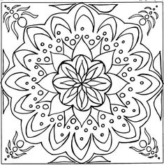 Square Mandala Coloring Pages