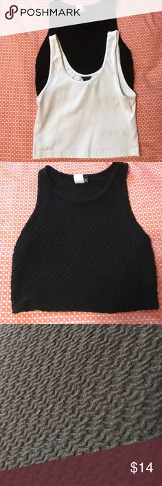 Crop top bundle! Black one is from wet seal, white is from forever 21. Both worn one time. These are very versatile and can go with so many outfits! Forever 21 Tops Crop Tops