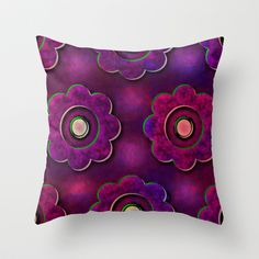 This colorful throw pillow is coordinated to go with the duvet cover for your little girl's room. Click on the link below to see it in full color and the matching items that are part of the Purple Pink Passions collection!!
