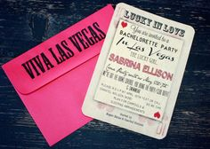 Vegas Bachelorette Party Invite by LittleCityMamaCo on Etsy, $15.00
