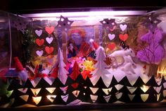 Christmas decoration in an old recycled aquarium