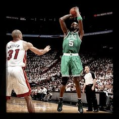 KG came up huge in Boston's 94-90 win in Game 5 with 26 points and 11 rebounds, including hitting a pair of clutch free-throws with 8.8 seconds to play. In your face Battier!!!!!!