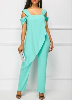 Cheap cheap jumpsuits rompers Jumpsuits & Rompers online for sale Blue Jumpsuits, Jumpsuits For Women, Fashion Jumpsuits, African Fashion, Ideias Fashion, Fashion Dresses, Casual Dresses, Stylish, Womens Fashion