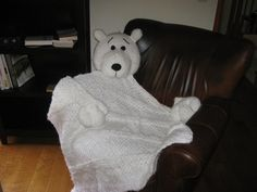 Amazon.com : Snuggletons Paul Polar Bear Blanket : Nursery Blankets : Baby