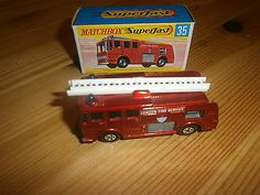 Matchbox Lesney Superfast No 35 Merryweather London Fire Engine Mint + Boxed - http://www.matchbox-lesney.com/?p=8870