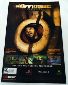 2004 Video Game Ad Page  The Suffering from $5.09