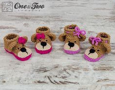 Teddy Bear Booties pattern by Carolina Guzman