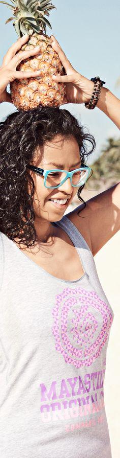 Mayastile Tank Top #tanktop #pineapple #lentes #hair #summer #beach #tee #relax