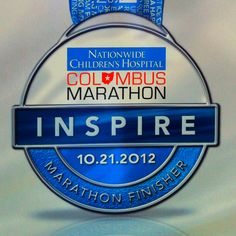 Nationwide Columbus Marathon.  Full Marathon finisher medal for 2012. Mentally defeated but content that I finished. #⃣12