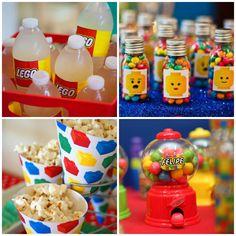 Personalizados fofos para festa tema Lego                                                                                                                                                                                 Mais