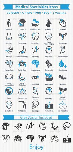 Medical Specialties Icons — Vector EPS #otology #psychiatry • Available here → https://graphicriver.net/item/medical-specialties-icons/16267096?ref=pxcr