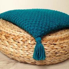 Decorative, chunky knit pillow, sea-green colour, home decor, pillow cover, cushion cover, knit pillow, knit cushion, cushion by justknitted1 on Etsy