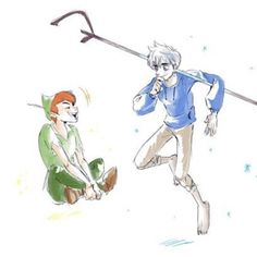 Imagem de jack frost, art, and peter pan Dark Jack Frost, Jack Frost And Elsa, Lost Boys, Disney Memes, Disney Cartoons, Disney Drawings, Cartoon Drawings, Punk Disney Princesses, Princess Disney