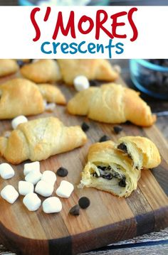 These S'mores Crescent Rolls from This Mama Loves are a really fun twist on traditional s'mores- with the beloved flavors of the original! Just a lot less mess!
