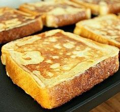 French Toast Hands down best French toast ever. My husband is not a cinnamon fan or French toast fan and had thirds!Hands down best French toast ever. My husband is not a cinnamon fan or French toast fan and had thirds! Breakfast Appetizers, Breakfast Desayunos, Breakfast Dishes, Breakfast Recipes, Breakfast Ideas, Breakfast Casserole, Pancake Recipes, Potato Casserole, Milk Recipes