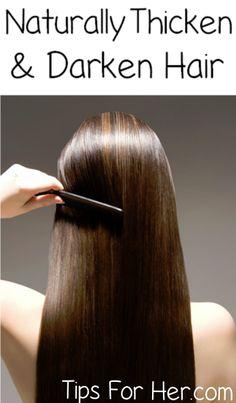 Naturally thicken and darken hair using castor oil.