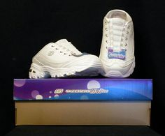Skechers D'Lites Womens USA Size 6.5 White/Silver  Sport Shoes NIB | eBay