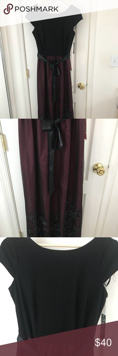 S.L. Fashions Dress NWT S.L. fashions Formal Dress. Size 8. Cap sleeve top with mesh skirt maxi dress. S.L. Fashions Dresses Maxi