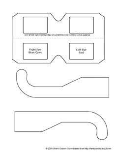paper crafts templates | Make Your Own 3-D Glasses