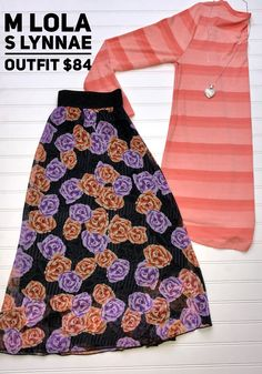 Ombré Striped Lynnae and Floral Cassie whaaat!? #lularoe #lynnae #lola #ootd #shopthedubs.com
