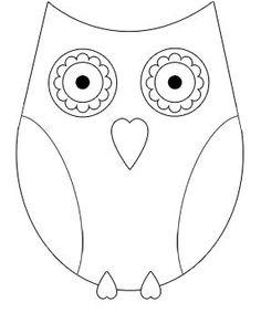 eenvoudige tekening uil - Google zoeken