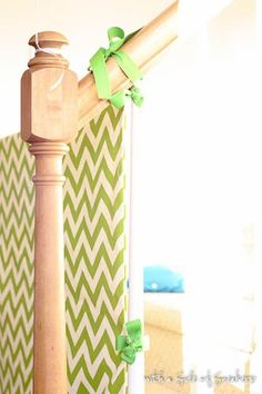 diy baby gate - this would be great if I sewed elastic in it so it could work with all lengths