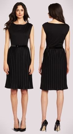 Love the pleats + neck. Wish it were forest green or something.